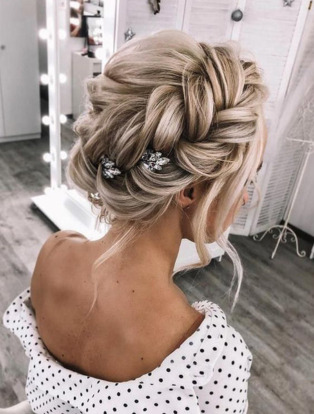 bridal braid updo hairstyle