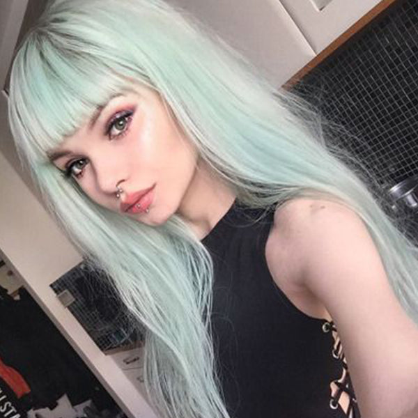 pastel hair colors: mint green