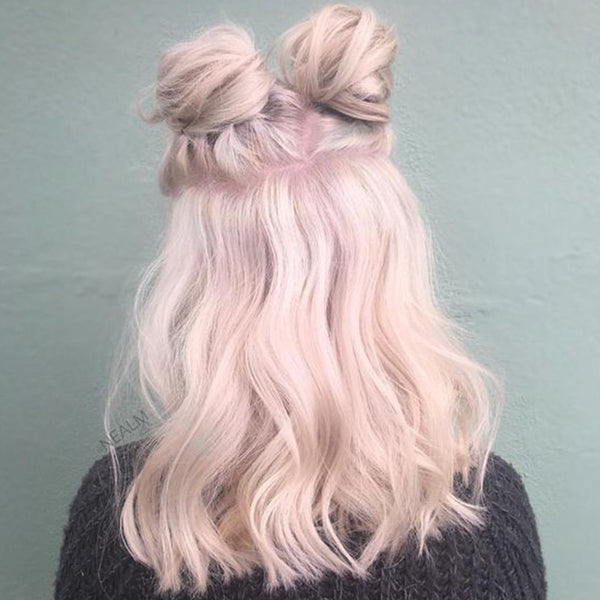 pastel hair colors: faded pink