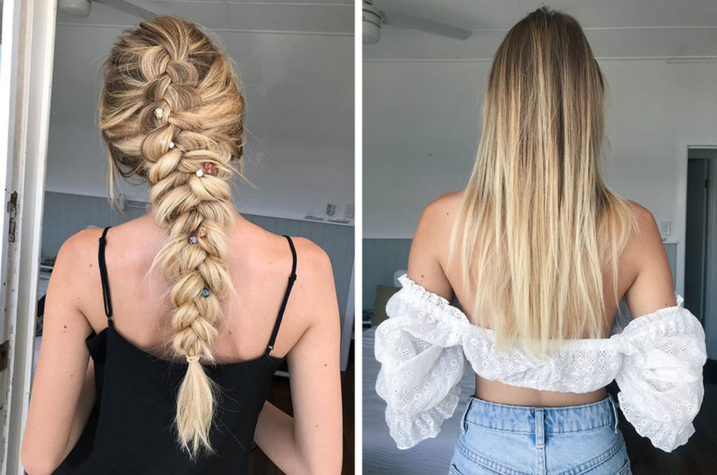 how to do a dutch braid with halo hair extensions