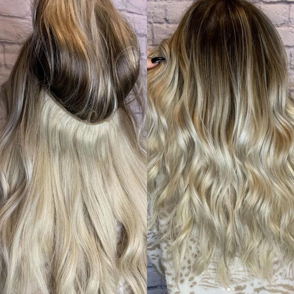 tips for halo hair extensions colour matching