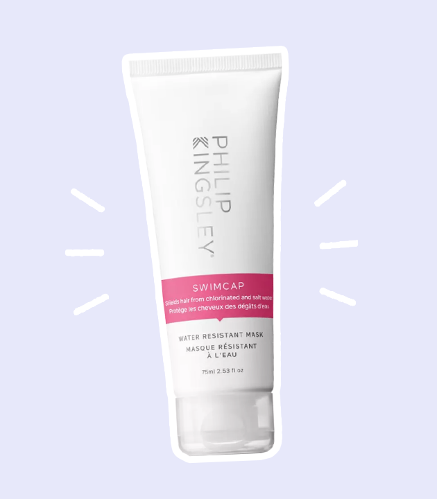 product that demonstrates how to protect hair from sun damage while swimming