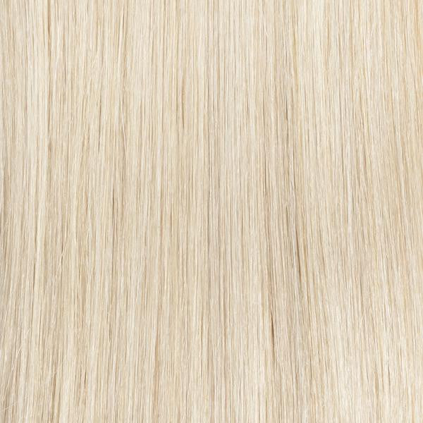 cream blonde halo hair extension }}