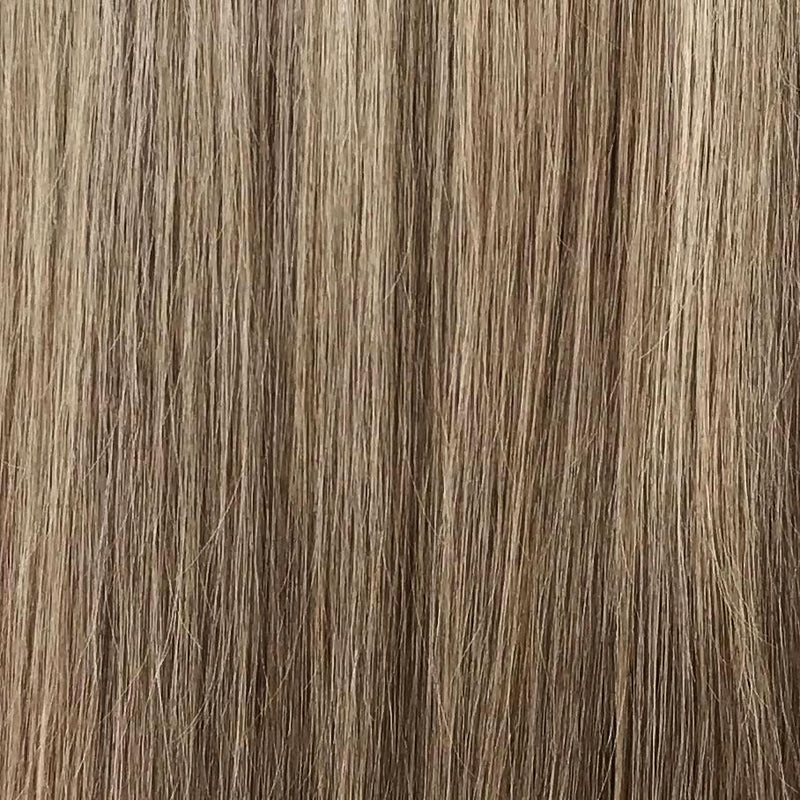 Dark Blonde and Light Brown Halo Hair Extension }}