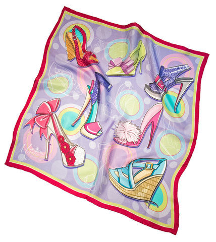 "SOLD OUT * ""If the Shoe Fits"" Silk Scarf"