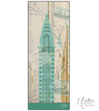 Marrero Collection Oblong New York's Chrysler Building Print Scarf