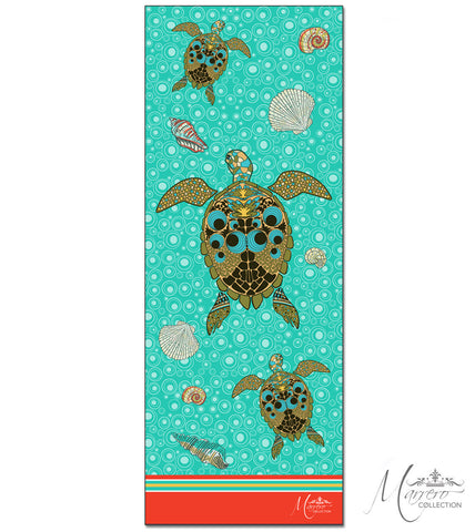 Boho Long Turtle Print Scarf