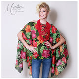 Marrero Collection Amapola Flower Tunic/Cover Up