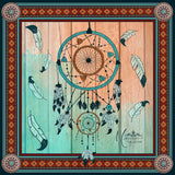"SOLD OUT * Marrero Collection ""Dreamcatcher"" Square Silk Scarf"