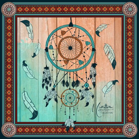 "SALE ITEM * Marrero Collection ""Dreamcatcher"" Square Silk Scarf"