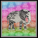 SOLD OUT - Elephant Square Silk Scarf
