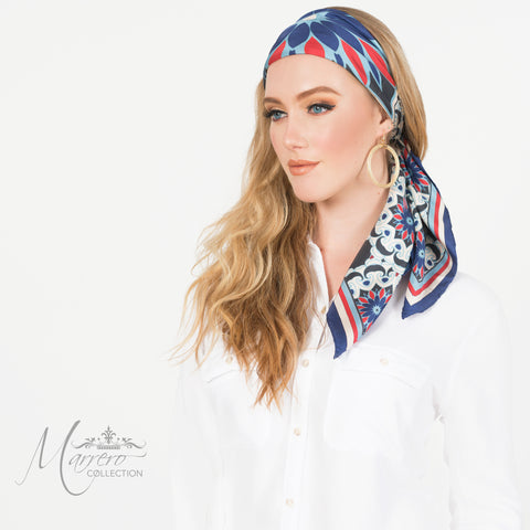 Marrero Collection Sahara Wall Square Silk Scarf