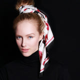 "SALE ITEM * Marrero Collection ""Fashionista"" Square Silk Scarf"