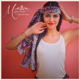 SOLD OUT- Marrero Collection Lotus Flower Print Fall Scarf
