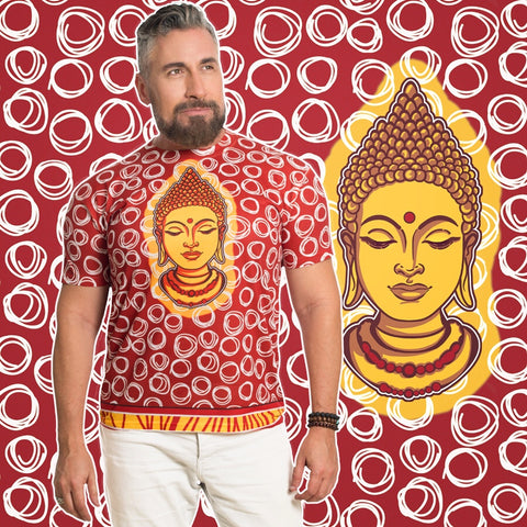 Sold out -BUDDHA Crew Neck Male T-Shirt