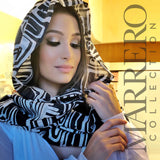 Black & White Scarf  Abstract Print - Marrero Collection
