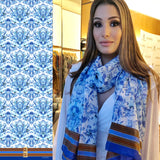 Wedgwood pattern Oblong Scarf