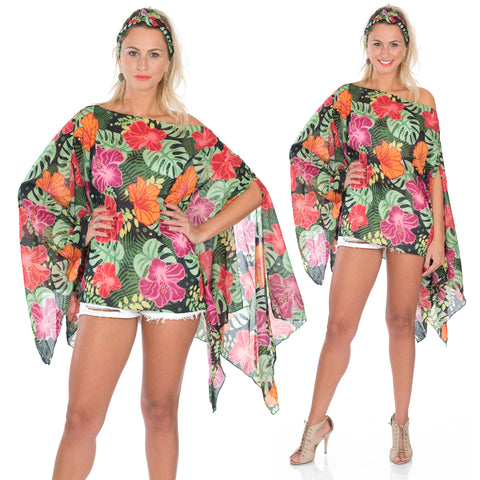 SOLD OUT ---Marrero Collection Amapola Flower Tunic/Cover Up