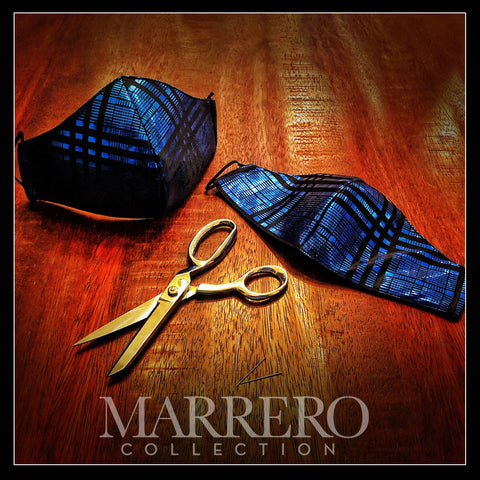 Mask - Blue Metallic & Black Disco mask