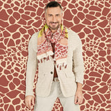 Marrero Collection Giraffe Scarf With Tassels - LIMITED EDITION