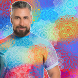 Mandala Print Male T-Shirt