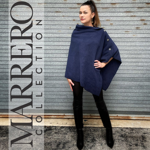 Marrero Poncho - Navy