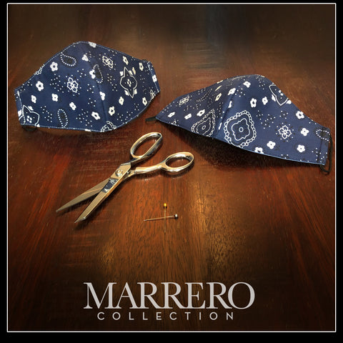 Mask - Navy Bandana mask