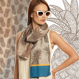 SALE ITEM * Marrero Collection Pineapple Print Fall Scarf