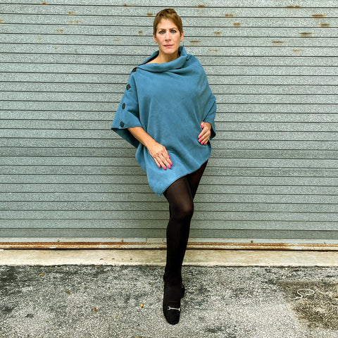 Marrero Poncho - Smokey Teal