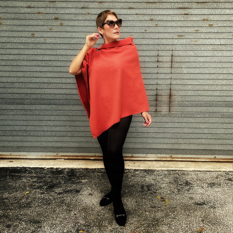 Marrero Poncho - Burnt Orange