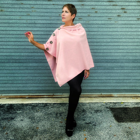 Marrero Poncho - Powder Pink