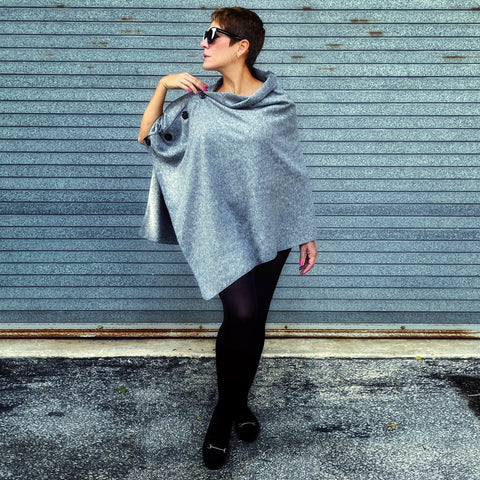 Marrero Poncho - Heather Grey