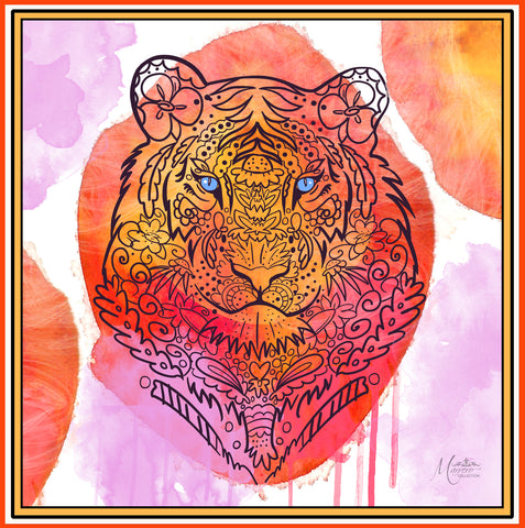 Tiger Small Silk Scarf
