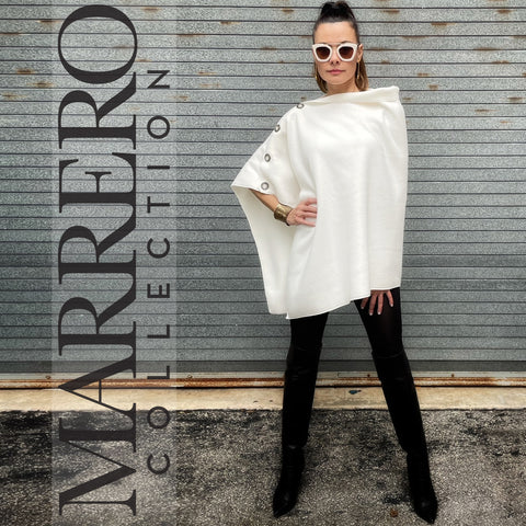 Marrero Poncho - Bone White