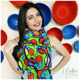 Marrero Collection Funky Circles print Scarf
