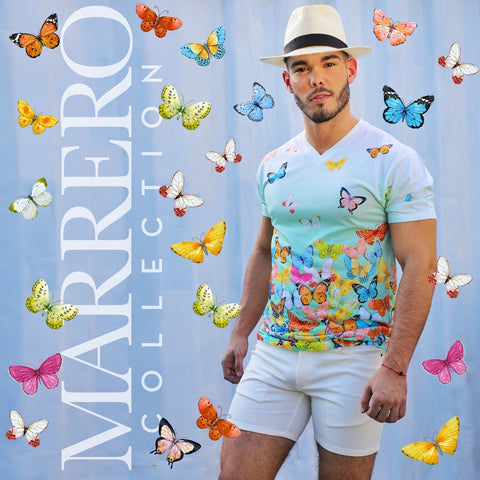 Sold out -Butterflies  Print Male V-Neck T-Shirt