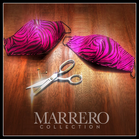 Mask - Pink & Black Zebra Mask