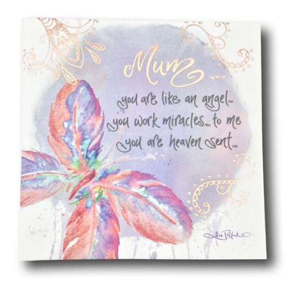 Cherish Mum Magnet by Lisa Pollock