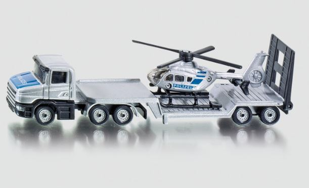 SIKU - LOW LOADER WITH HELICOPTER