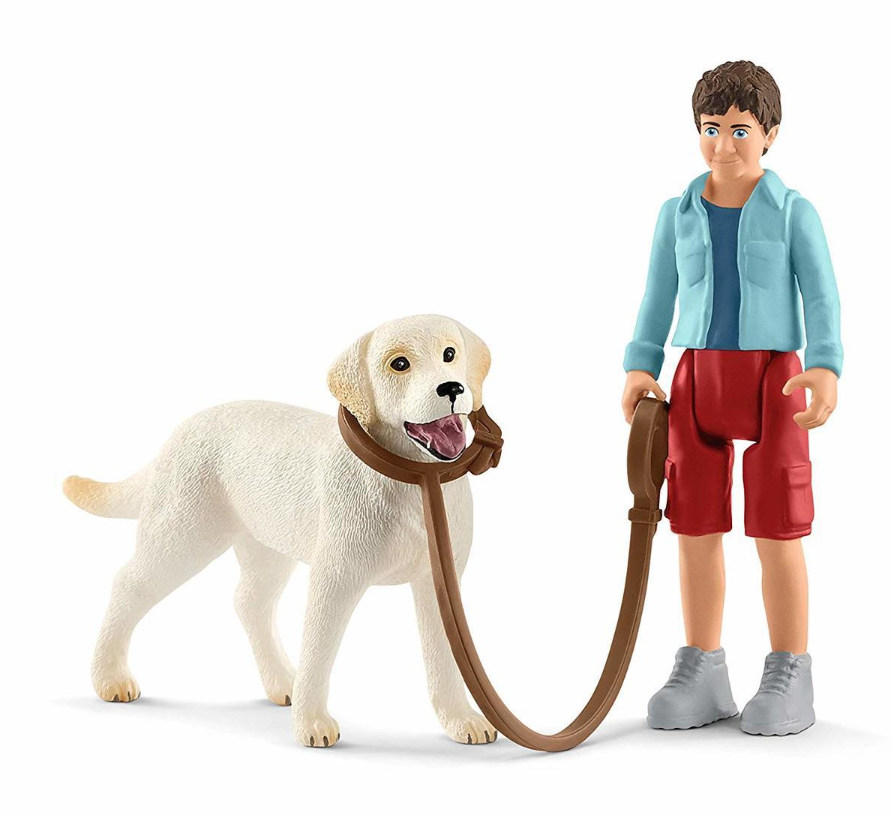 Schleich - Walking with Labrador Retriever