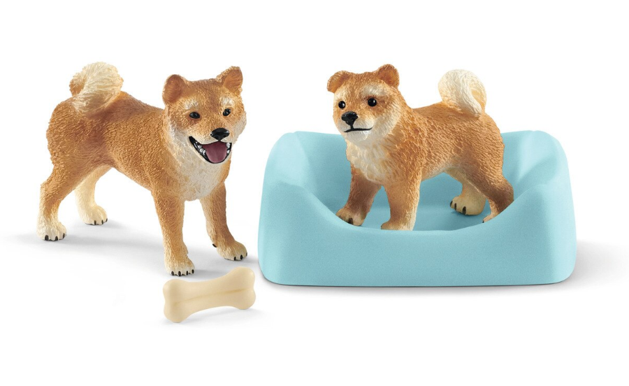 Schleich - Shiba Inu mother and puppy