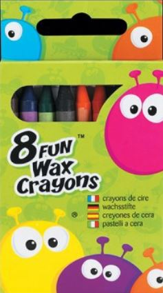 FUN 8 WAX CRAYONS