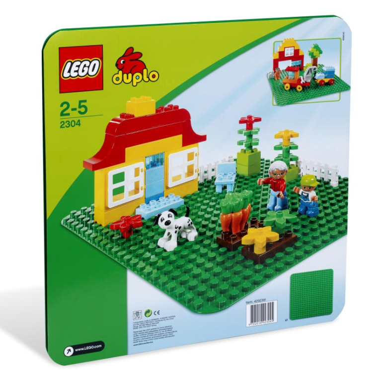 2304 - Duplo - Large Green Building Plate