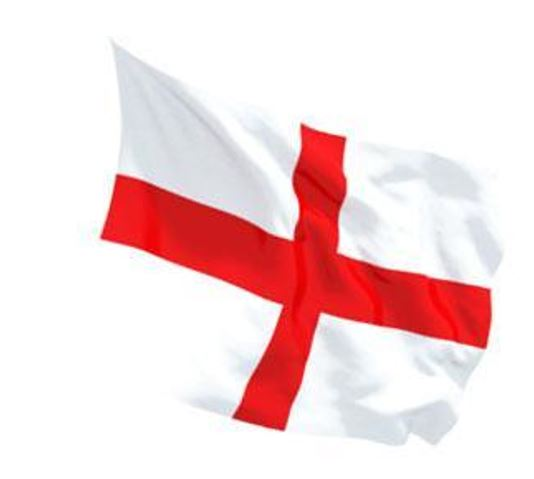 FLAG ENGLAND ST GEORGE CROSS INDOOR WALL