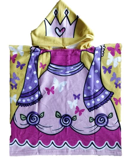 CHILDRENS HOODED TOWEL PRINCESS 60X120CM