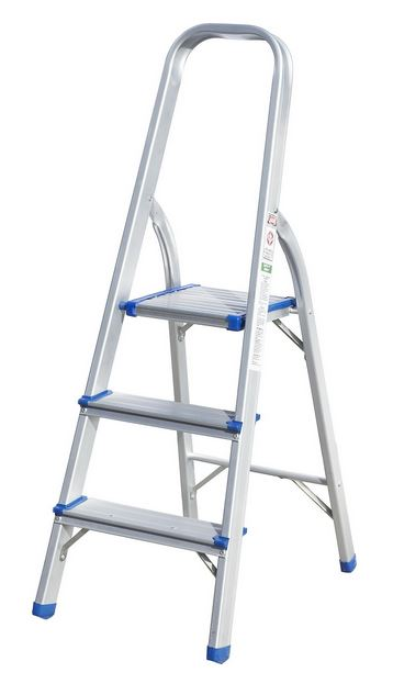 3 Step Folding Ladder Aluminium