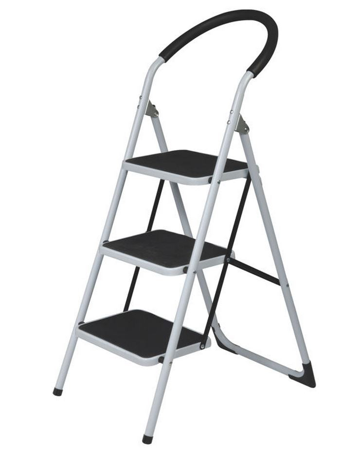 3 Step White Folding ladder