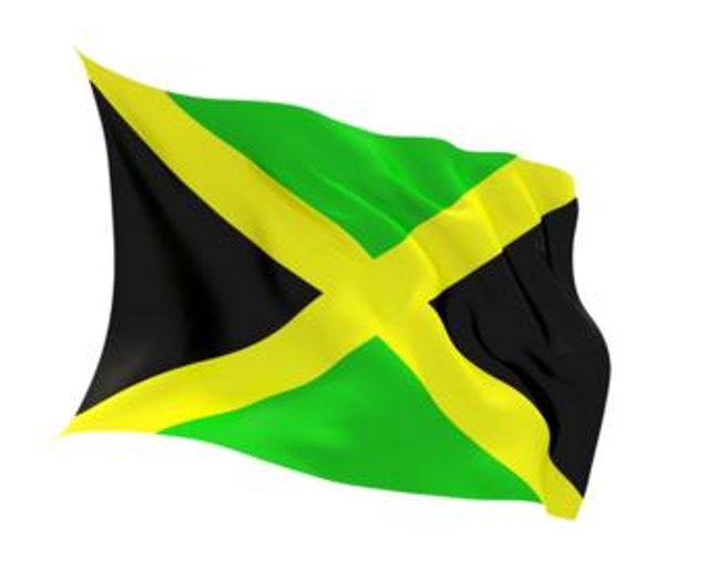 FLAG JAMAICA INDOOR WALL 5x3INCH