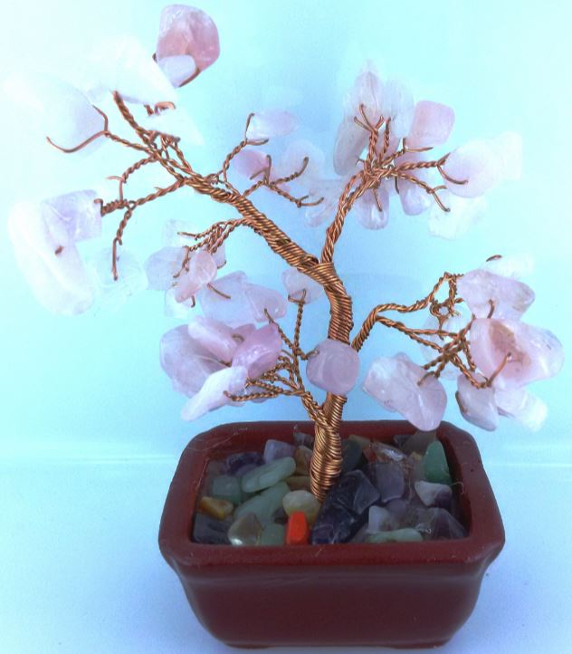 GEMSTONE TREE SMALL ROSEQUARTZ