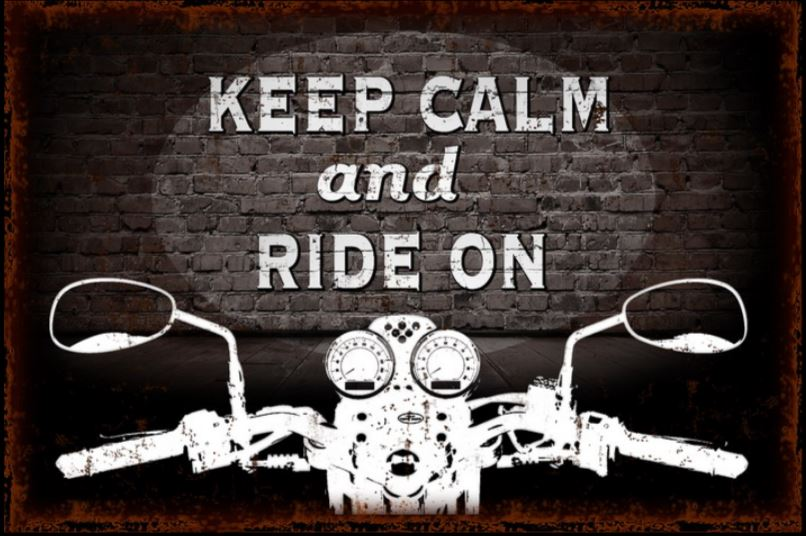 Wall Art - Keep Calm and Ride On